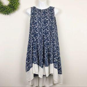 Altar'd State || Blue Daisy Mum Swing Dress M